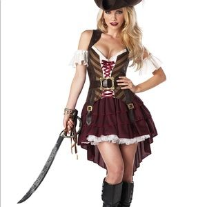 PIRATE COSTUME! ADULT SIZE SMALL.